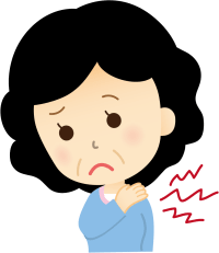 肩痛の女性